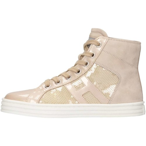 Chaussures Fille Baskets montantes Hogan HXC1410801361PM024 Basket Enfant Beige Beige