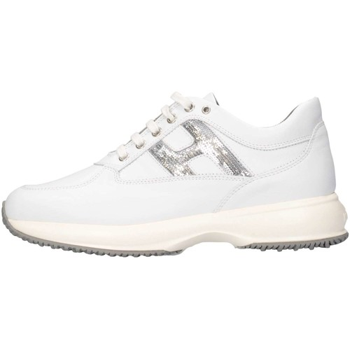 Chaussures Fille Baskets basses Hogan HXR00N0O2418GQ0351 Basket Enfant Blanc Blanc
