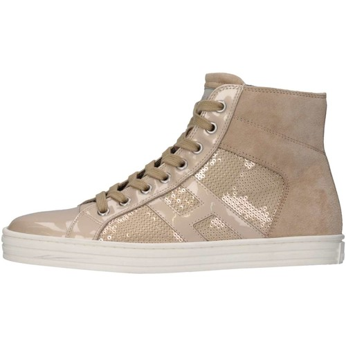 Chaussures Enfant Baskets montantes Hogan Junior HXR14100801361PM024 Basket Bébé Beige Beige
