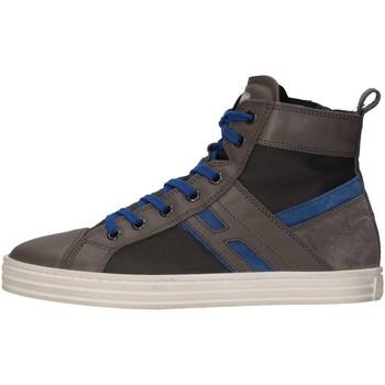 Chaussures Enfant Baskets montantes Hogan HXR1410U771E7G0XS0 Basket Bébé Gris Gris