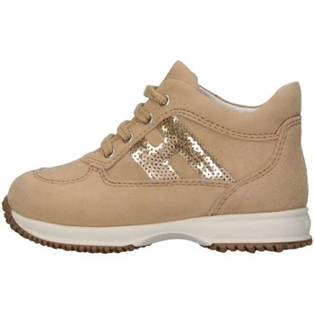 Chaussures Fille Baskets montantes Hogan HXT09204181CR09999 Basket Enfant Beige Beige