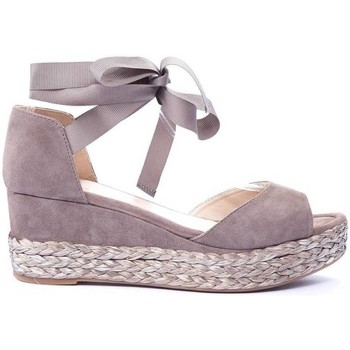 Chaussures Femme Sandales et Nu-pieds Unisa COMPENSEE TAUPE