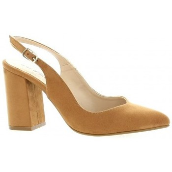 Chaussures Femme Escarpins So Send Escarpins  velours Cognac