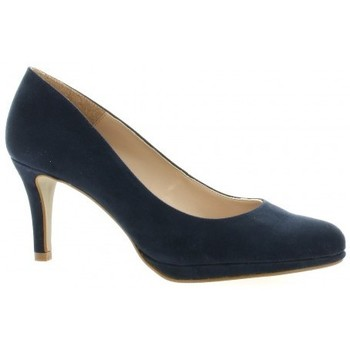 Chaussures Femme Escarpins So Send Escarpins cuir velours Marine