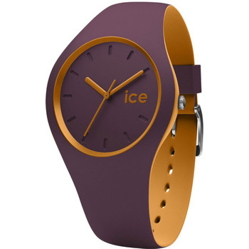 Montres & Bijoux Femme Montres Analogiques Ice Watch Montre  Ice Duo 012967 - Montre Taille S Silicone Violette Orang