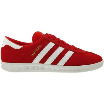 Chaussures Homme Baskets basses adidas Originals Hamburg Blanc-Rouge-Doré