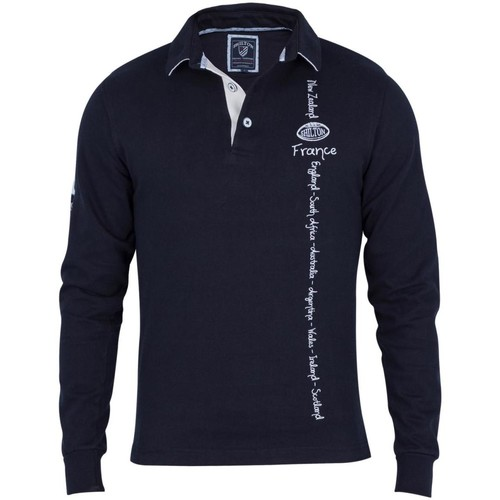 Vêtements Homme Polos manches longues Shilton Polo rugby seven Navy