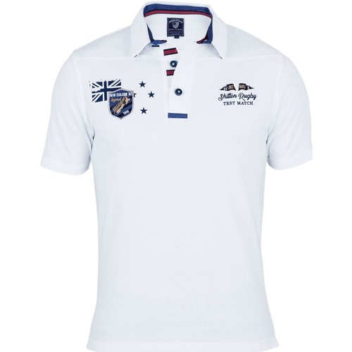 Vêtements Homme Polos manches courtes Shilton Polo rugby test match Blanc