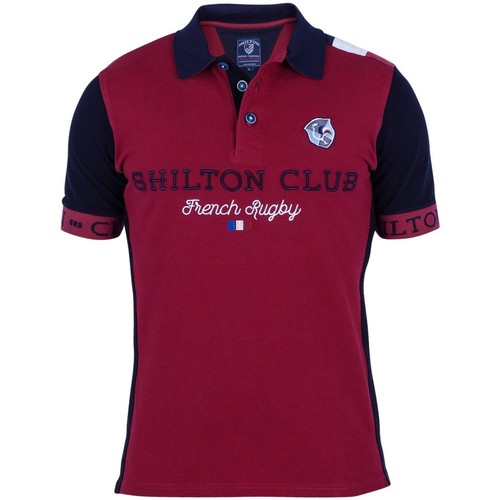 Vêtements Homme Polos manches courtes Shilton Polo French Rugby Rouge