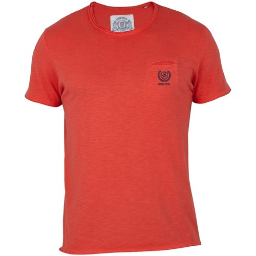 Vêtements Homme T-shirts manches courtes Shilton T-shirt Basic col rond Orange