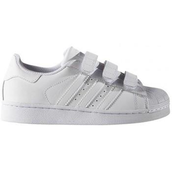 Chaussures Enfant Baskets basses adidas Originals SUPERSTAR FONDATION CF C / BLANC Blanc