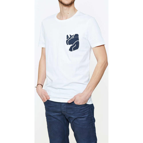 Vêtements Homme T-shirts manches courtes G-Star Raw Tee Shirt Mc 2004 G Star Blanc Blanc