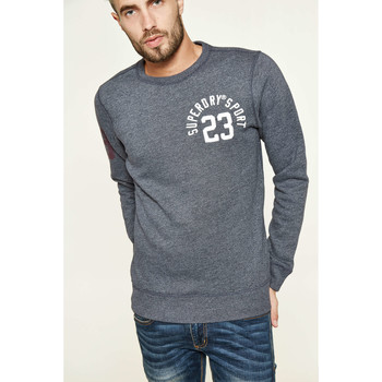 Sweat-shirt Superdry Sweat Shirt Core Applique Crew Marine Chine Homme