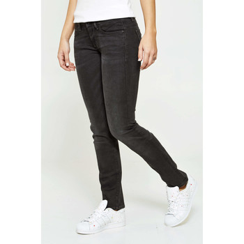 Vêtements Femme Jeans droit G-Star Raw Jeans  Midge Mid Straigh Regular Gris Femme Bleu