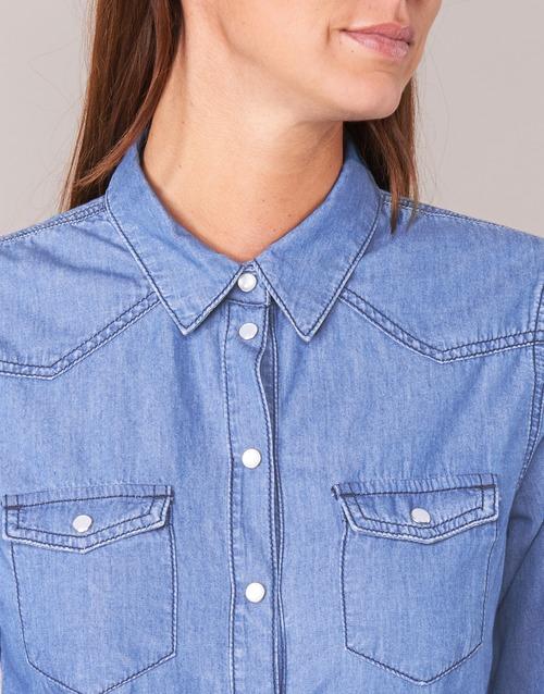 IHEFOU  Yurban  chemises / chemisiers  femme  bleu