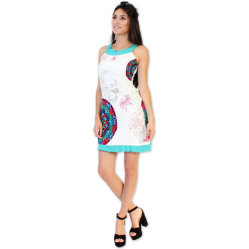 Vêtements Femme Robes courtes Coton Du Monde Robe PAMELA Blanc Multicolore