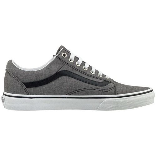 Chaussures Homme Baskets basses Vans OLD SKOOL CHAMBRAY BKUE GRIS