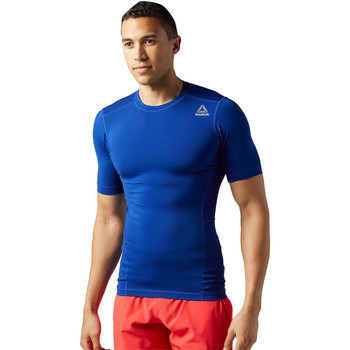 Vêtements Homme T-shirts manches courtes Reebok Sport T-shirt de compression manches courtes Workout Ready Blue