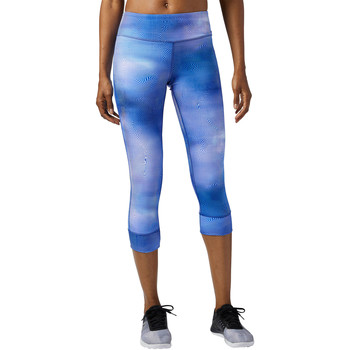 Vêtements Femme Leggings Reebok Sport Legging Lux 3/4 - motif Techspiration Blue