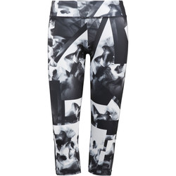 Vêtements Femme Leggings Reebok Sport Workout Ready Smoke Print Capri Blanc