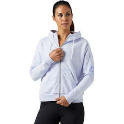 Vêtements Femme Sweats Reebok Sport Veste à capuche Elements Marble Full Zip Blanc