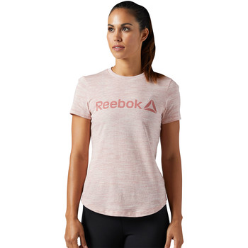 Vêtements Femme T-shirts manches courtes Reebok Sport T-shirt Elements Logo Marble Pink
