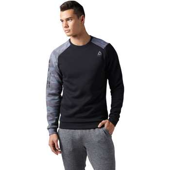 Vêtements Homme Pulls Reebok Sport Sweat col rond Quik Cotton Noir