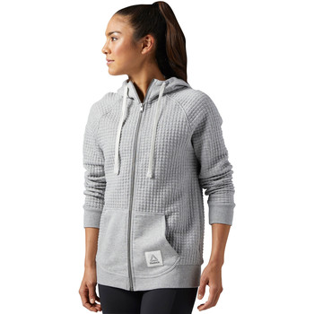 Vêtements Femme Sweats Reebok Sport Sweat à capuche Elements Quilted Full Zip Gris