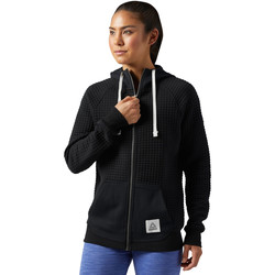 Vêtements Femme Sweats Reebok Sport Sweat à capuche Elements Quilted Full Zip Noir