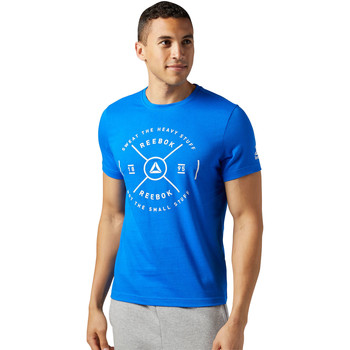 Vêtements Homme T-shirts manches courtes Reebok Sport T-shirt Sweat The Heavy Stuff Bleu