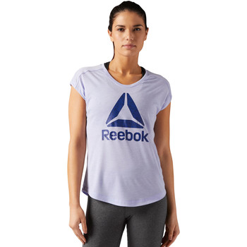 Vêtements Femme T-shirts manches courtes Reebok Sport T-shirt Workout Ready Supremium 2.0 Big Logo Blue