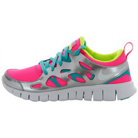 Chaussures Fille Baskets basses Nike Free Run 2 (GS) - 477701-601 Rose