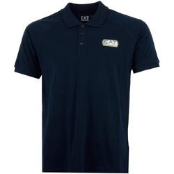 Vêtements Homme Polos manches courtes Emporio Armani EA7 Polo  (Bleu) Bleu