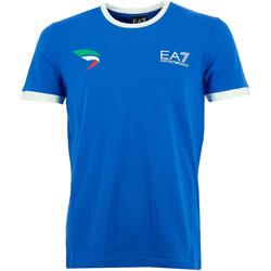 Vêtements Homme T-shirts manches courtes Emporio Armani EA7 Tee-shirt  (Bleu) Bleu