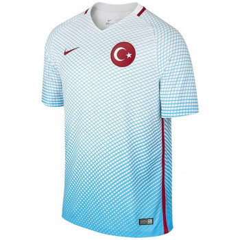Vêtements Homme T-shirts manches courtes Nike Maillot de football  Turkey Home Stadium 2016 - 724638-447 Bleu