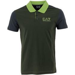 Vêtements Homme Polos manches courtes Emporio Armani EA7 Polo  - 6XPF69-PJ02Z-28BB Vert