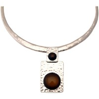 Montres & Bijoux Femme Colliers / Sautoirs Lili La Pie Collier torque motif pendant collection BERLIN Marron chocolat