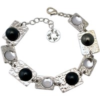 Montres & Bijoux Femme Bracelets Lili La Pie Petit bracelet multi motifs pierres collection BERLIN multicolor Gris anthracite
