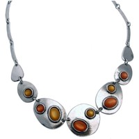 Montres & Bijoux Femme Colliers / Sautoirs Lili La Pie Collier multi motifs argenté collection TUTTI FRUTTI Orange