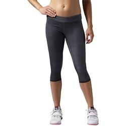 Vêtements Femme Leggings Reebok Sport Rcf Reversbl Chase Capri Graphite