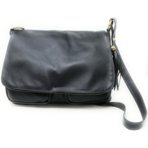 Sacs Femme Sacs porté épaule Oh My Bag Sac à Main cuir bandoulière femme - Modèle Avril (gd modèle) ble BLEU FONCE