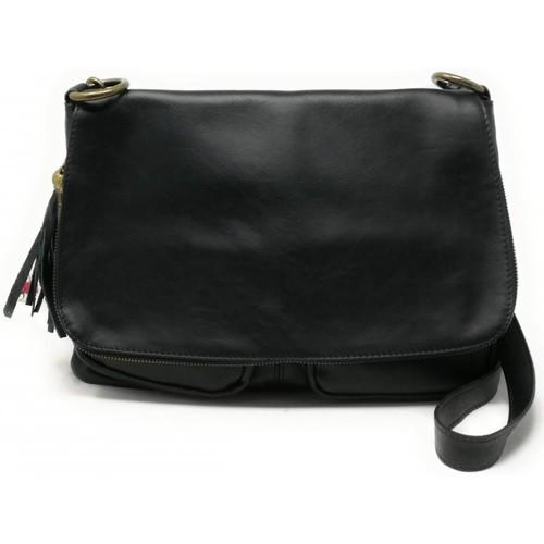 Sacs Femme Sacs porté épaule Oh My Bag Sac à Main cuir bandoulière femme - Modèle Avril (gd modèle) noi NOIR