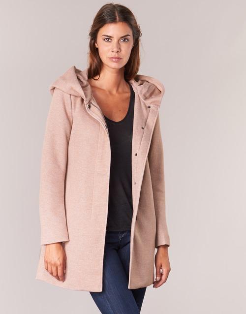 Vêtements Femme Manteaux Only SEDONA Rose