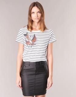Vêtements Femme T-shirts manches courtes Only KIRA Blanc