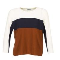 Vêtements Femme Pulls Only REGITZE Blanc / Marine / Marron