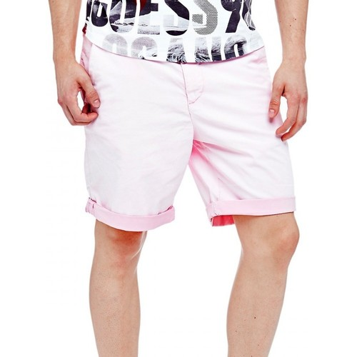 Vêtements Homme Shorts / Bermudas Guess Short Homme Trent Rose Rose