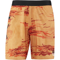 Vêtements Homme Shorts / Bermudas Reebok Sport Short de training CrossFit Speed - motif camouflage Orange / Vert