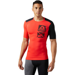 Vêtements Homme T-shirts manches courtes Reebok Sport ACTIVCHILL Graphic Compression Tee Red