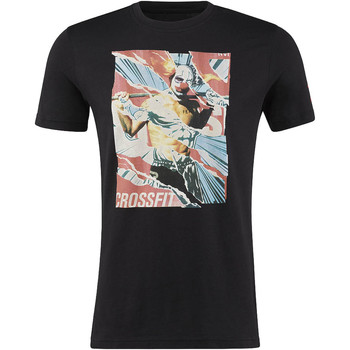 Vêtements Homme T-shirts manches courtes Reebok Sport T-shirt  CrossFit Pukie Collage Graphic Noir
