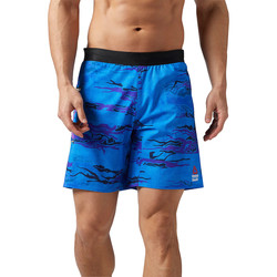 Vêtements Homme Shorts / Bermudas Reebok Sport Short de training  CrossFit Speed - motif camouflage Bleu